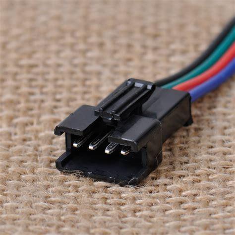 Limited Kabel Jepit 2 Sisi Led Rgb 3528 5050 10 rgb led schnell verbinder kabel adapter 4 pin 3528 stecker licht leiste 702706028783 ebay