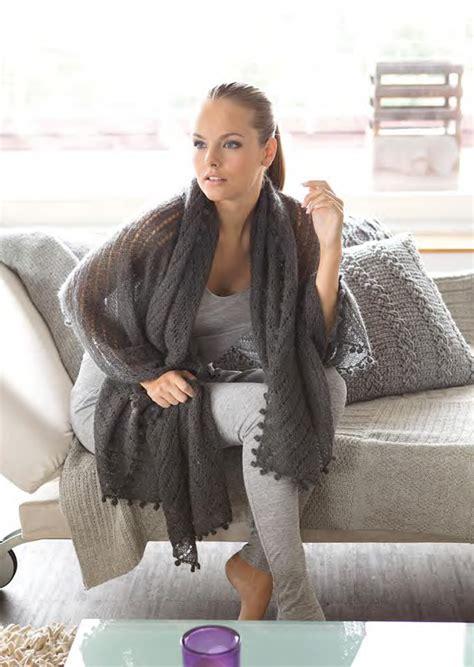 Maxi Liena Violet grossa maxi stole silkhair filati handstrick no 42 home model 12 filati knitting