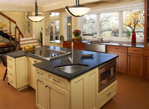 island with sink is a corner kitchen sink right for you solving the dilemma