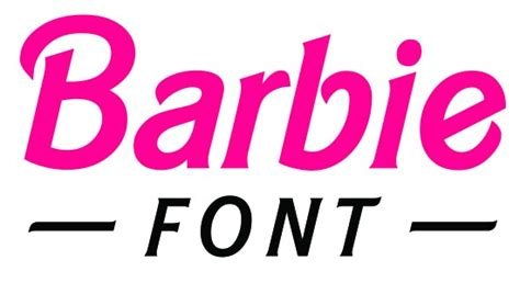 printable barbie font best barbie font for your next project