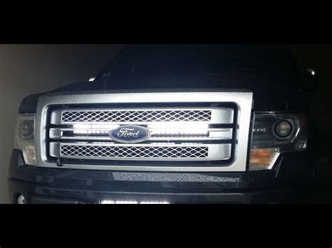 "f150 32"" led bar behind the grill how to install f150leds"
