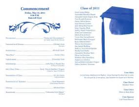 Graduation Ceremony Program Template by Graduation Ceremony Program Template Invitations Ideas