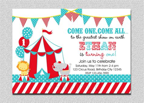 carnival circus birthday invitation circus by thetrendybutterfly