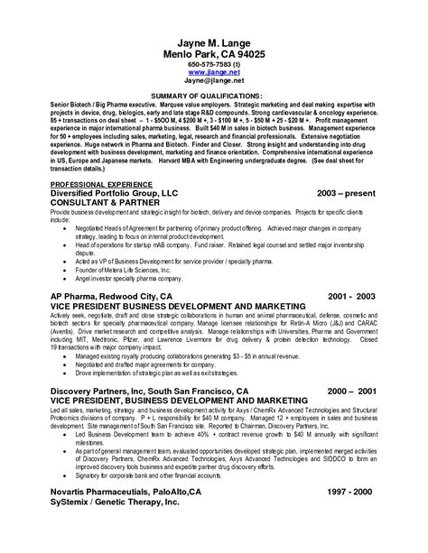 Resume Sles Summary resume qualifications sles 28 images bilingual