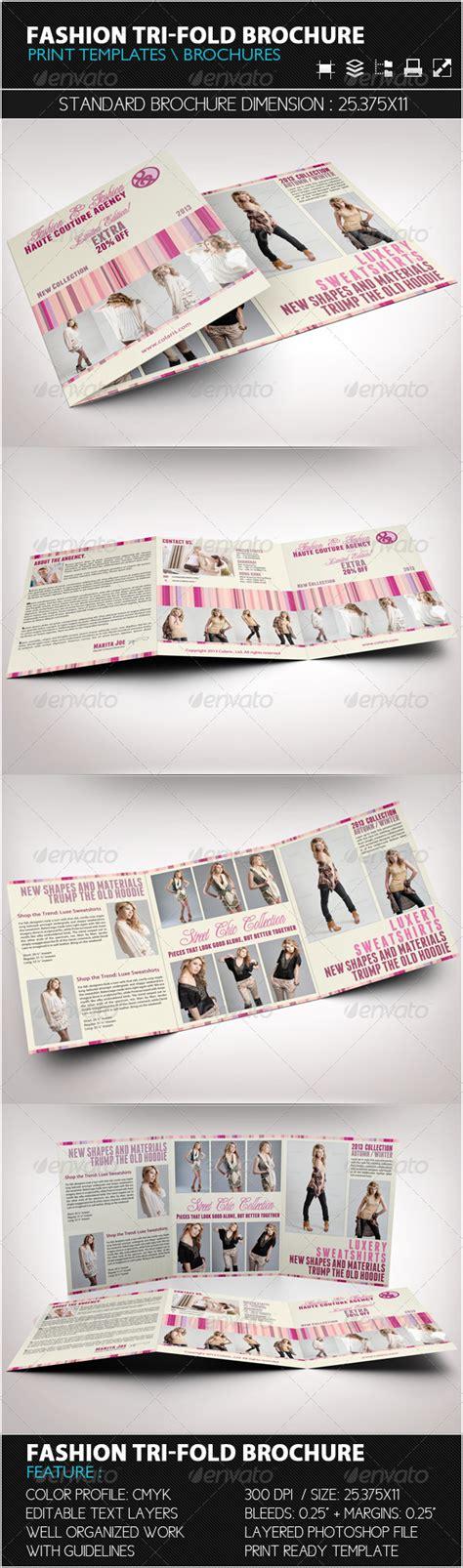 fashion brochure template fashion tri fold brochure template by bagera graphicriver