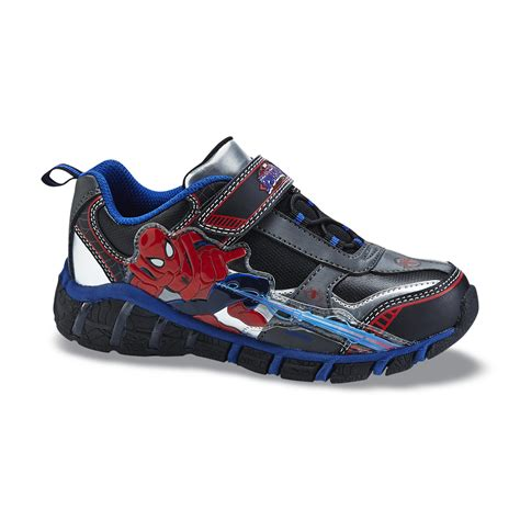 spiderman light up shoes reebok boy s athletic shoe ultimatic black red