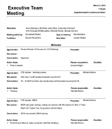Informal Meeting Minutes Template 9 Free Word Pdf Documents Download Free Premium Templates Informal Will Template