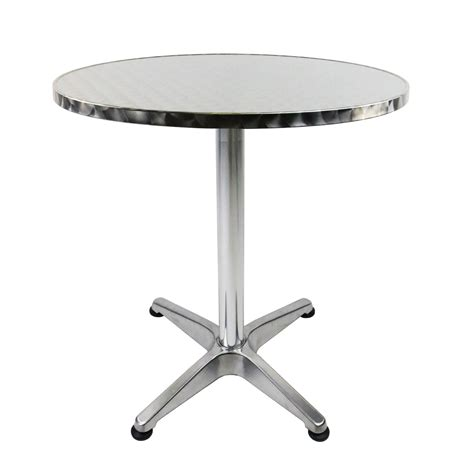 Bar Bistro Table 1 1m Aluminium Bistro Table Bar Pub Cafe Adjustable Height 163 38 99 Oypla The