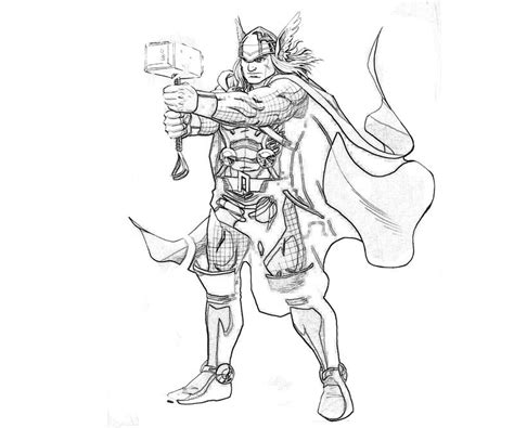 Coloring Pages Thor Marvel Vs Capcom Thor Yumiko Fujiwara by Coloring Pages Thor