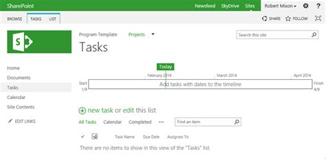Sharepoint 2013 Task Management Bob Mixon S Musings Sharepoint Task List Template