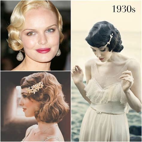 hairstyles of 1930s and 40s images of 1930 s hair styles 1930s vintage wedding