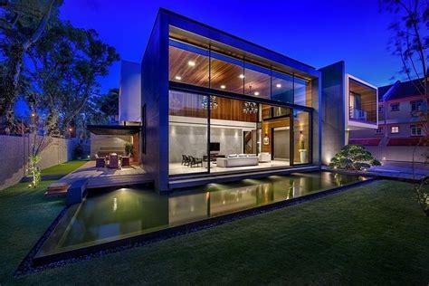 Contemporary Home Exteriors Design by Dise 241 O De Casa Moderna Terreno Grande Construye Hogar