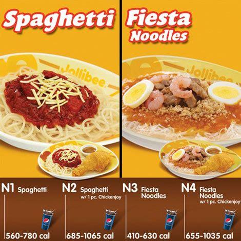 menu « jollibee foods corporation