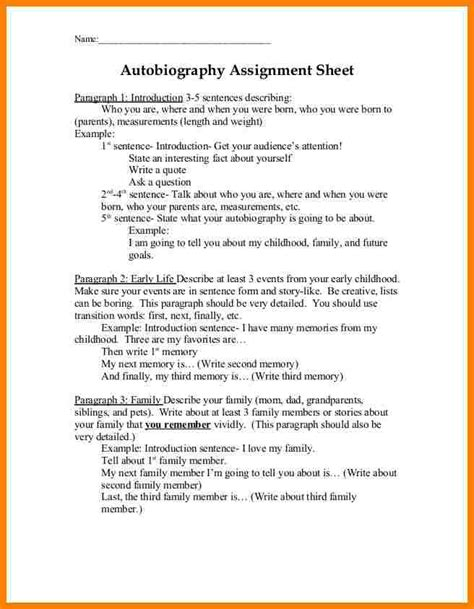 Introduction Letter Assignment 5 autobiography introduction exles introduction letter