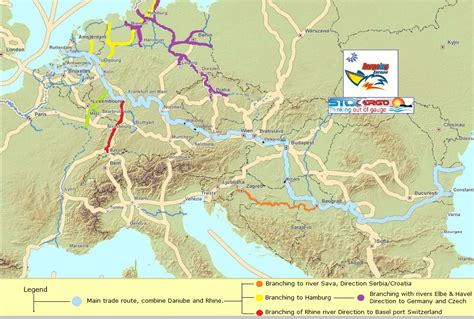 boat shipping map rivers of europe trade routes cargo barging