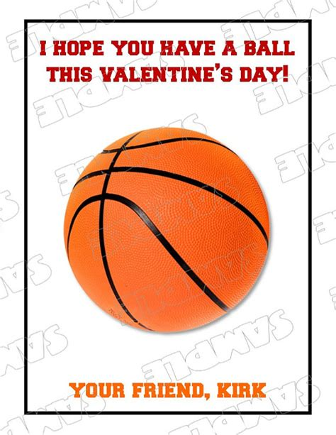 basketball valentines 8 best images of basketball printables free