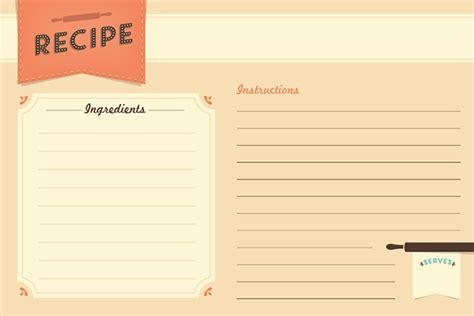 recipe paper template freebie recipe card printable