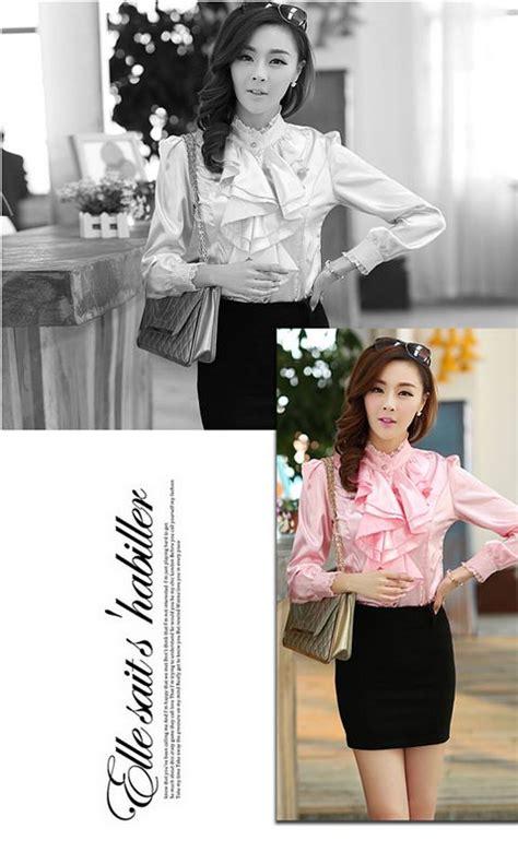 Axara Pink Opdress Lengan Panjang Murah Cantik kemeja korea pink lengan panjang 2015 model terbaru