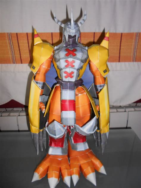 wargreymon papercraft pt1 by mrraxal on deviantart