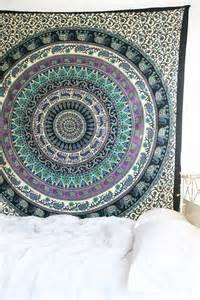 royal plum and bow medallion tapestry hippie mandala wall