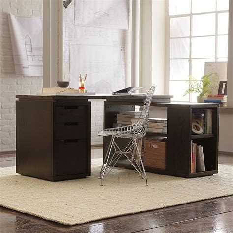West Elm Office Desk Modular Office Modern Desks And Hutches By West Elm