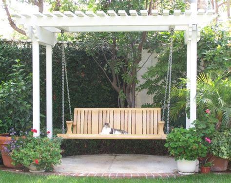 pergola porch swing pergola with swing outdoor spaces pinterest pergolas