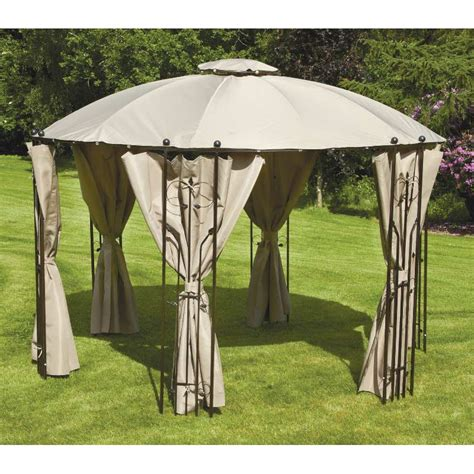 circular gazebo glendale circular gazebo with side curtains 35m on sale