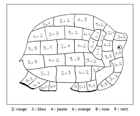 Coloriage Magique Tables De Multiplicationl