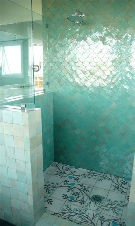 turquoise bathroom floor tiles 5 colourful shower enclosure ideas