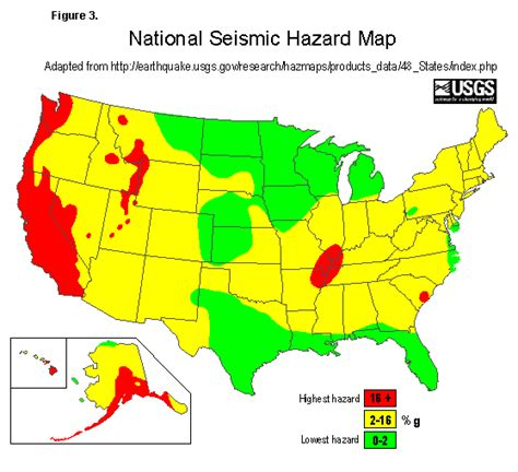 america earthquake zone map earthquake map u s