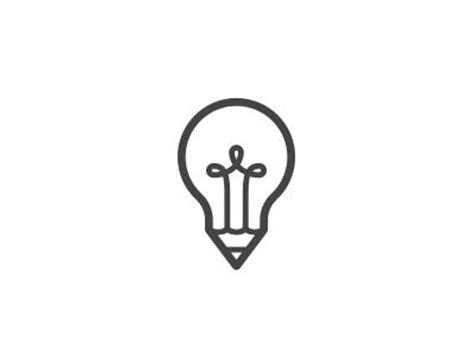 Light Bulb Pen light bulb pen creative design icons symbols