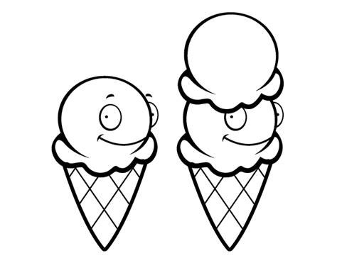 imágenes para dibujar helados dibujo de cucuruchos de helado para colorear dibujos net