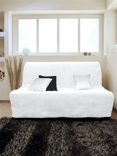 housse canape bz housse pour canap 233 bz adaptable couleur blanc pas cher