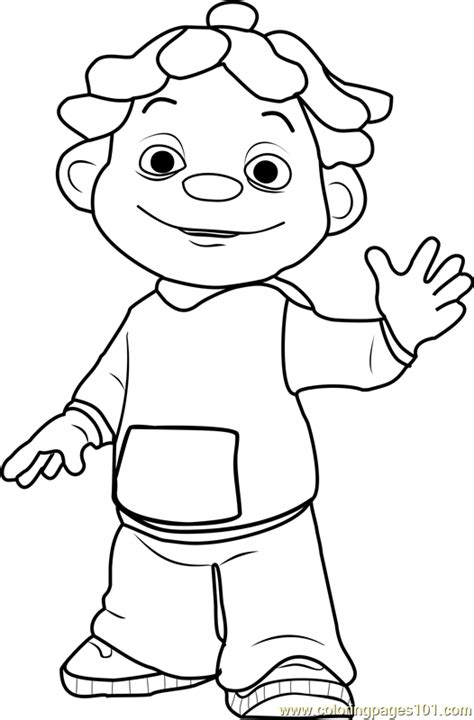 sid coloring page free sid the science kid coloring