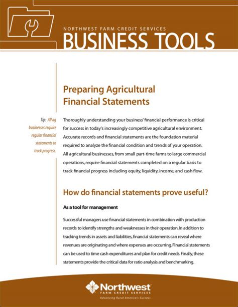 10 essential business financial statement sles