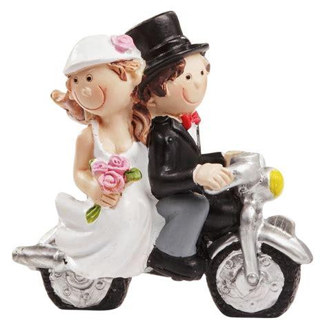 Tortenfiguren Motorrad by Brautpaar Tortenaufsatz Biker Motorrad Hochzeit Hochzeitspaar