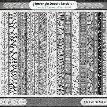 zen doodle border  art geometric page divider clipart