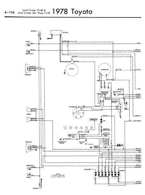 land cruiser wiring diagram repair manuals toyota land cruiser fj40 55 1978 wiring diagrams