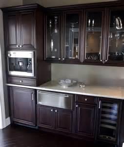 espresso cabinets kitchen kitchen transitional with corner