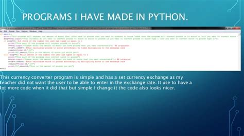 currency converter python why python is a good programming language and pygame