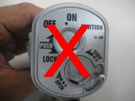 Gembok Pake Kode shutter key kini tak menjamin motor aman dari maling