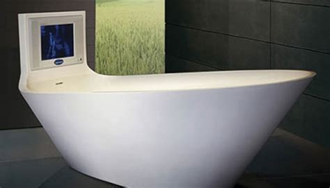 bathtub with tv 3rings saturn s tv tub by karim rashid