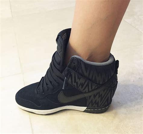my superficial endeavors nike dunk sky hi wedge sneakers