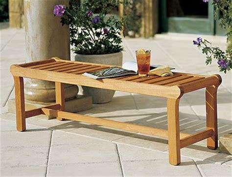 backless teak bench a teak garden bench is the best around teak patio furniture world