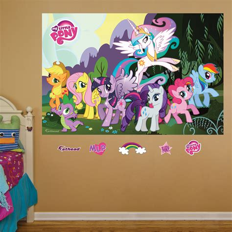 pony wall stickers my pony mural realbig wall decal
