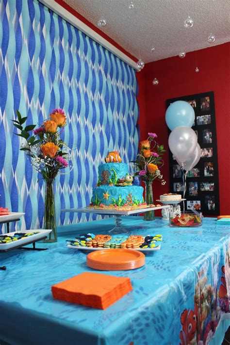 party decor ideas on pinterest dessert tables waffle cake dessert table decorations finding nemo theme party