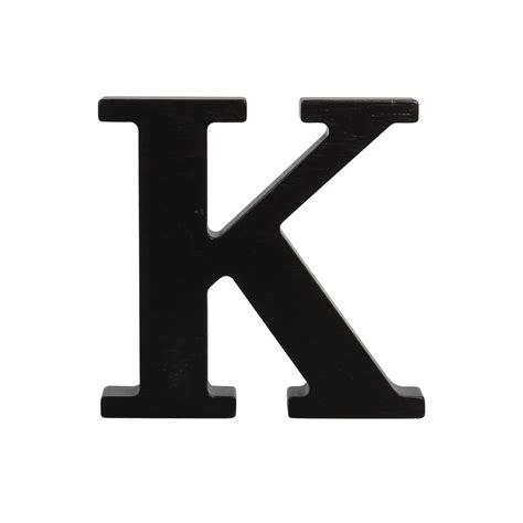 color k wooden letter k black