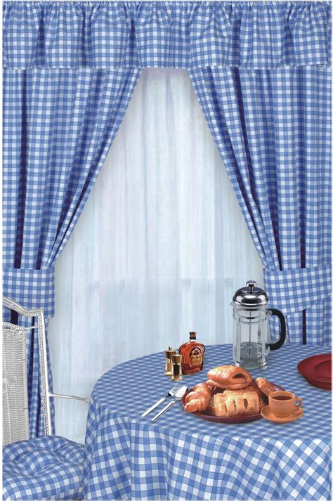 yellow and blue kitchen curtains blue colour check kitchen curtains