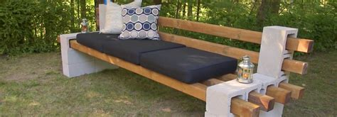 diy concrete block bench diy cinder block bench summer simplified belairdirect