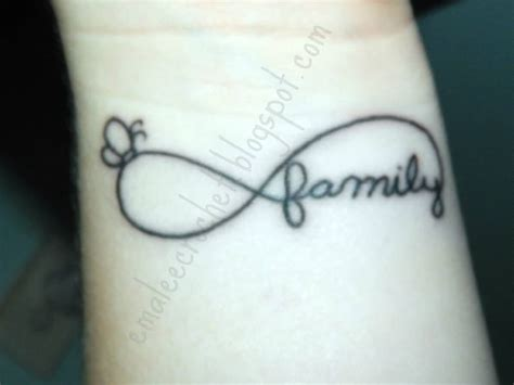 family infinity tattoo 40 family text amazing infinity tattoos golfian